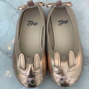 Gap Rose Gold Toddler Bunny Ballet Flats [size 7]